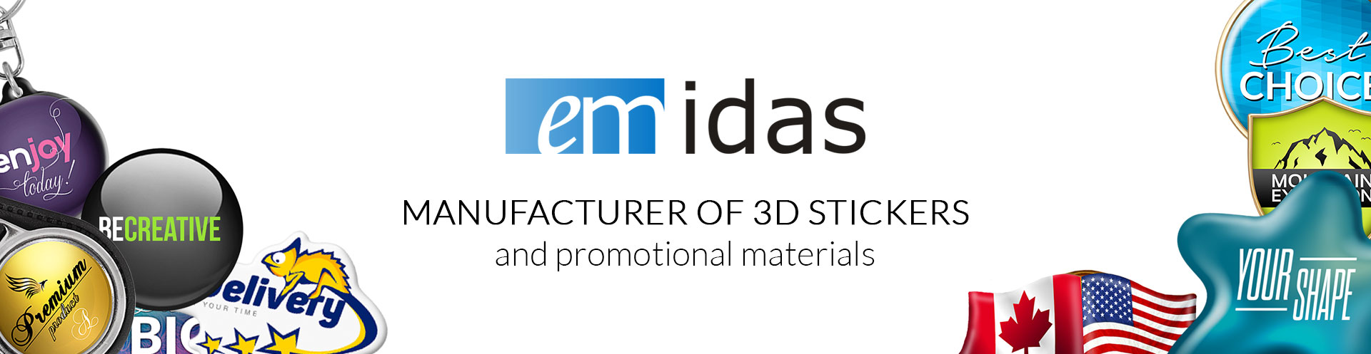 EMIDAS   Manufacturer of 3D stickers and promotional materials